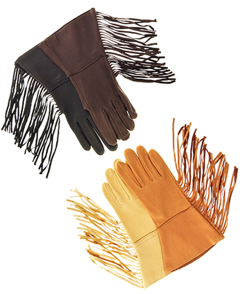 Western Deerskin Gauntlet Riding / Driving Gloves