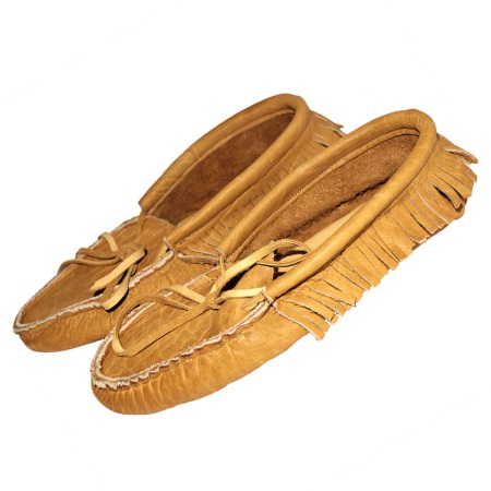 Bison Leather Moccasins Low Cut