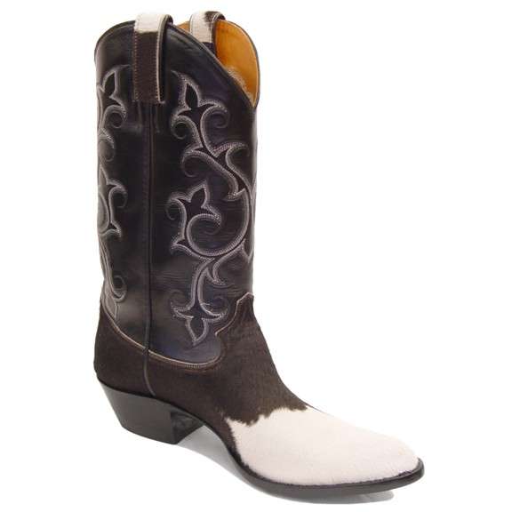 Handmade Holstein Hair On Cowhide Cowboy Boots