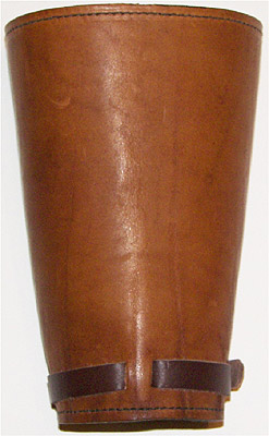 Plain Leather Western Cowboy Cuffs